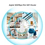 Tenda N300 WiFi Range Extender 2 External Antennas, One Button Extension, Smart Signal LED, Universal Compatibility(A9)