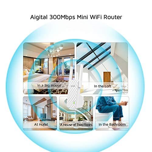 Tenda N300 WiFi Range Extender 2 External Antennas, One Button Extension, Smart Signal LED, Universal Compatibility(A9)