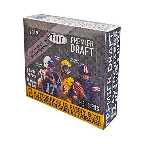 2019 SAGE Hit Premier Draft High Series Football HOBBY box (20 pk. TWELVE Autograph cards)