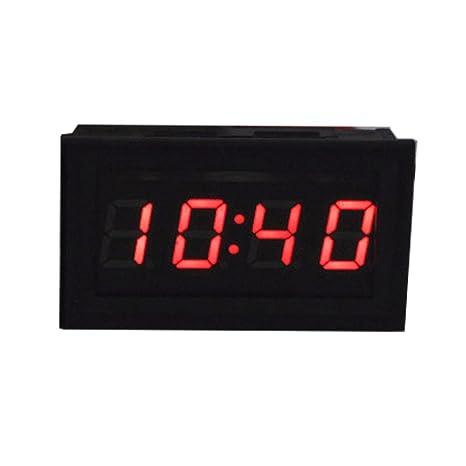 ANCHOM Mini Led Digital Electro Reloj Coche Reloj Incorporado para Coche Motocicleta (45 x 28