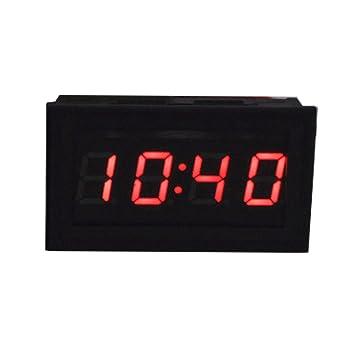YOOKII Mini LED Electro Reloj Digital Reloj Incorporado Para La Motocicleta Del Coche (45 x