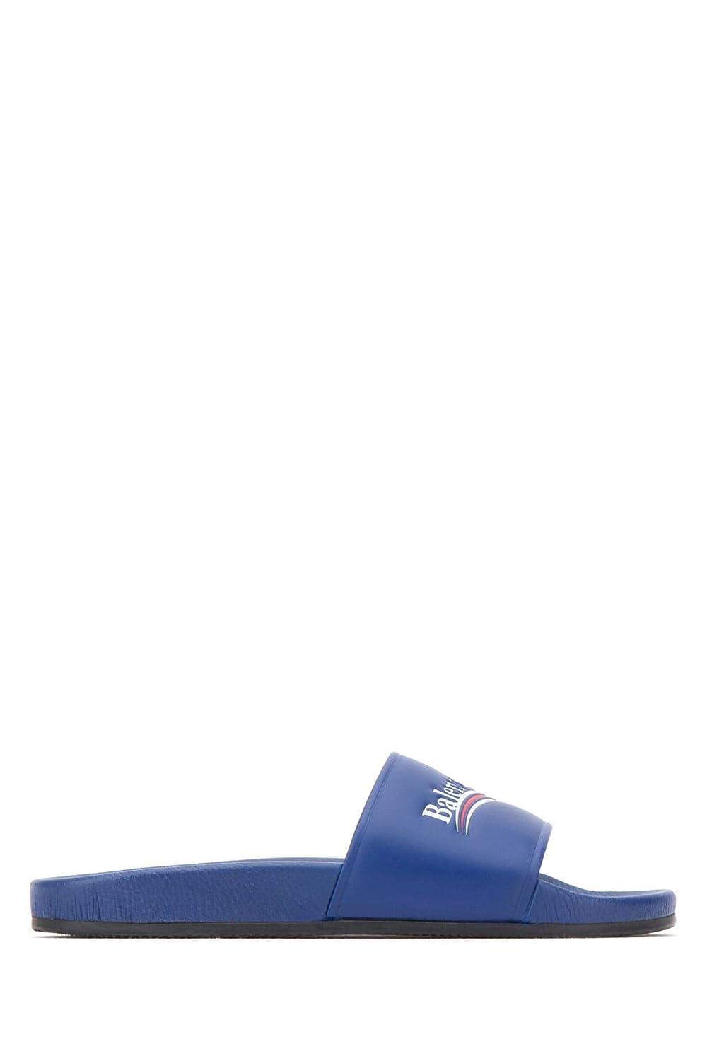 Balenciaga Sandalen Herren 530562WAM004045 Blau Leder Sandalen Balenciaga 23f6b4