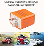 Sdootauto 4 Pcs 12V 2-Pin Motorcycle Adjustable