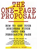 The One-Page Proposal, Patrick Riley and Patrick G. Riley, 0060988606
