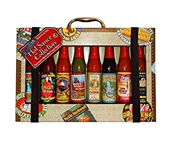 Amazon.com : Dat'l Do It Global Collection Hot Sauce Gift Set (8 ...