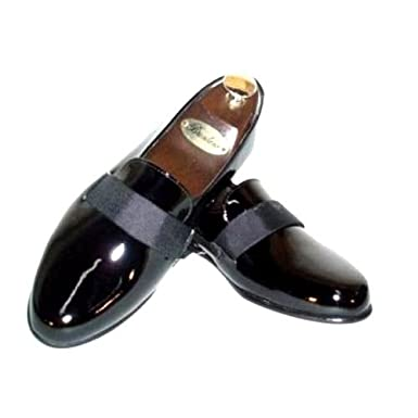 e17090a66aa Amazon.com  Transit Formal Patent Leather Slip-on Tuxedo Shoes Wide ...