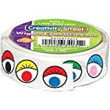 Creativity Street Wiggle Eyes Stickers, 0.5-Inch, Multicolor, 1000-Pack