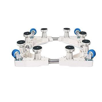 Soporte base Qiangzi Ajustable Ruedas Azules Ajustables Completamente Movibles Base Especial para Electrodomésticos para Baño De Cocina 500 Kg De Carga para ...
