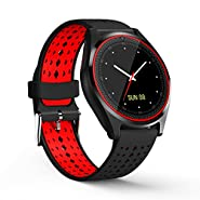 V9 Smart Watch with SIM Card Slot, Camera, Silicone Band and Bluetooth 4.0 for Android