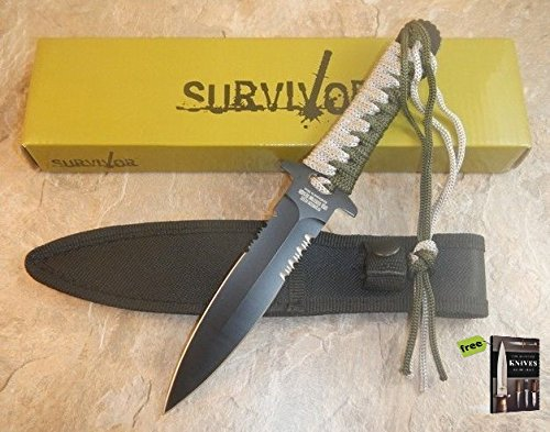 ZOMBIE HUNTER Spring Assisted TOXIC SILVER DAGGER SPEAR POINT Knife + Free eBook by SURVIVAL STEEL