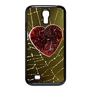 Samsung Galaxy S4 Case, Love Heart On The Cobweb Case for Galaxy S4 Black Leemarson sf4112651