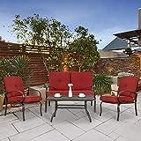 Homevibes 3 Pieces Bistro Set Outdoor Patio Porch