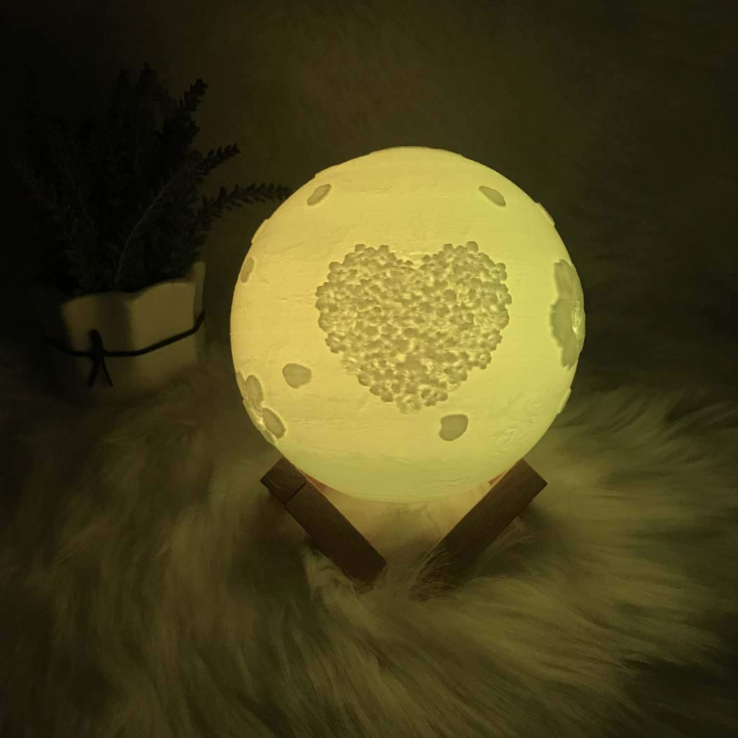 BDHBB Luz Creativa, 16 Colores LED Lámparas de luz Lunar ...