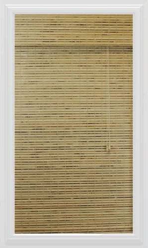 Bamboo Roman Shade, 23-Inch Width by 54-Inch Height, Petite Rustic
