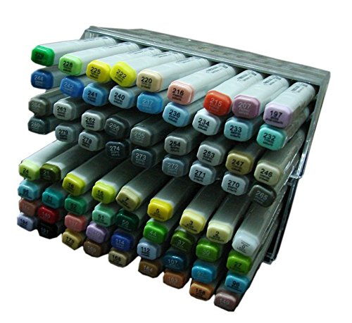 Lanxivi Finecolour Sketch Marker Pen 72 Colors Oil Base Set Artist Necessary Work Supplier by Lanxivi