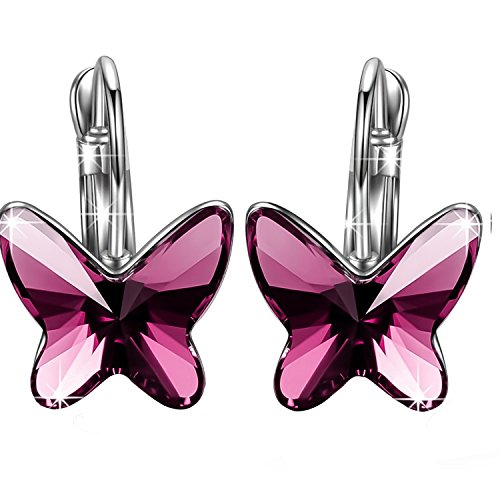 SIVERY Butterfly Earrings Swarovski Crystals
