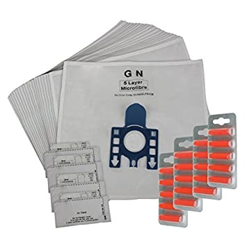 20 MIELE GN Compatible Vacuum Cleaner Microfibre DUST BAGS /& 10 Filters