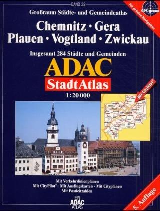 Chemnitz, Zwickau: Grossraum ADAC Stadtatlas 1:20000