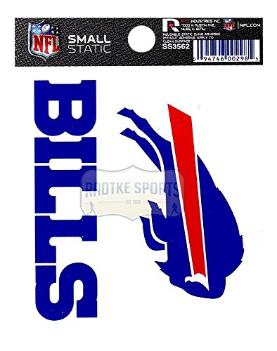 Offically Licensed NFL Buffalo Bills Small Static Cling 3.5