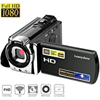Camera Camcorder Wifi HD 1080P 24MP 16X Digital Zoom Video Camera Infrared Night Vision Handy Camera with 3.0' LCD and 270 Degree Rotation Screen for Novice(Black)