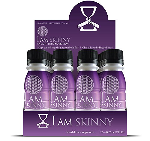 I Am Skinny Natural Fast Acting Liquid Weight Management Shot with Super Citrimax Garcinia Cambogia, 12 Count