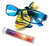 Yellow Tropical Marine Fish Novelty Gift Eyeglass Holder Stand & Lens Cleaning Cloth