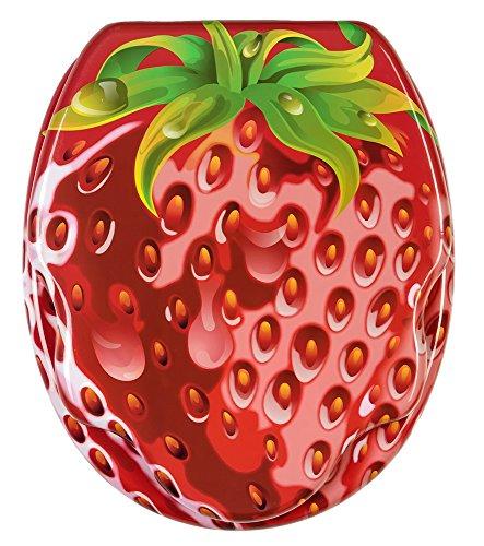 wc sitz mit absenkautomatik hochwertige oberflche einfache montage stabile scharniere strawberry amazonde baumarkt