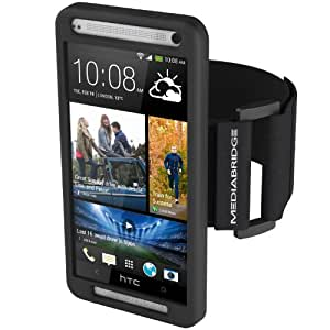 Mediabridge Sport Armband for HTC One - Includes Front Screen Protector (Black)