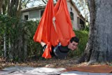 Deluxe Aerial Yoga Hammock (Yoga Swing for Trx, Aerial Yoga, Antigravity) (Orange Pizaaz)