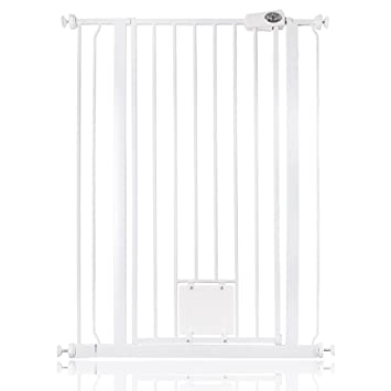 Bettacare Gate With Lockable Cat Flap Pressure Fitted Gate 75cm   148.7cm  Stair And Pet