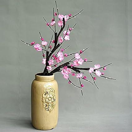 Emulación de Phillips chino floreros falsificarse flores cerámica adornos paquete Home decoraciones de flores de seda