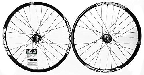 "SPANK SPIKE RACE28 EVO MTB Bike Wheelset 26"" 8-10spd 6 Bolt Disc 32h Black NEW"