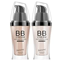 CCPT BB Cream-Oil-FREE Moisturizer,Multi-Function and High Coverage Makeup,Light/Medium for men and women (Ivory White)