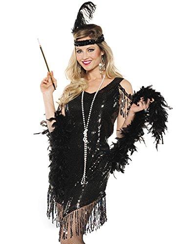 Swingin' Flapper Costumes (Swingin Adult Costume Black - Small)