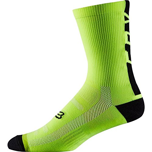 Fox Racing Performance 6in Socks Flo Yellow, S/M - Men's