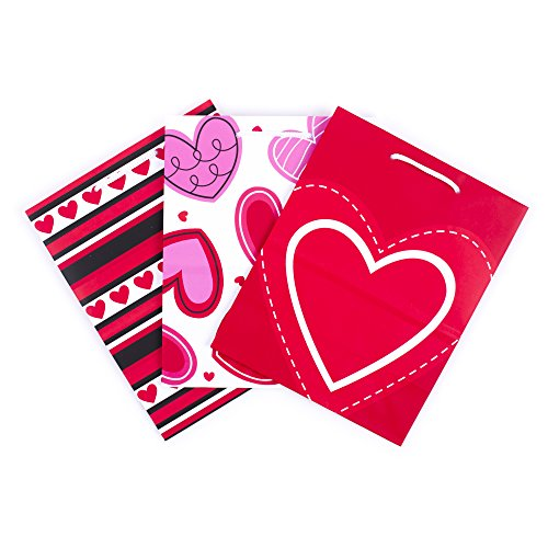 Hallmark Medium Gift Bags (Hearts, 3 Pack) (3 Pack Gift)