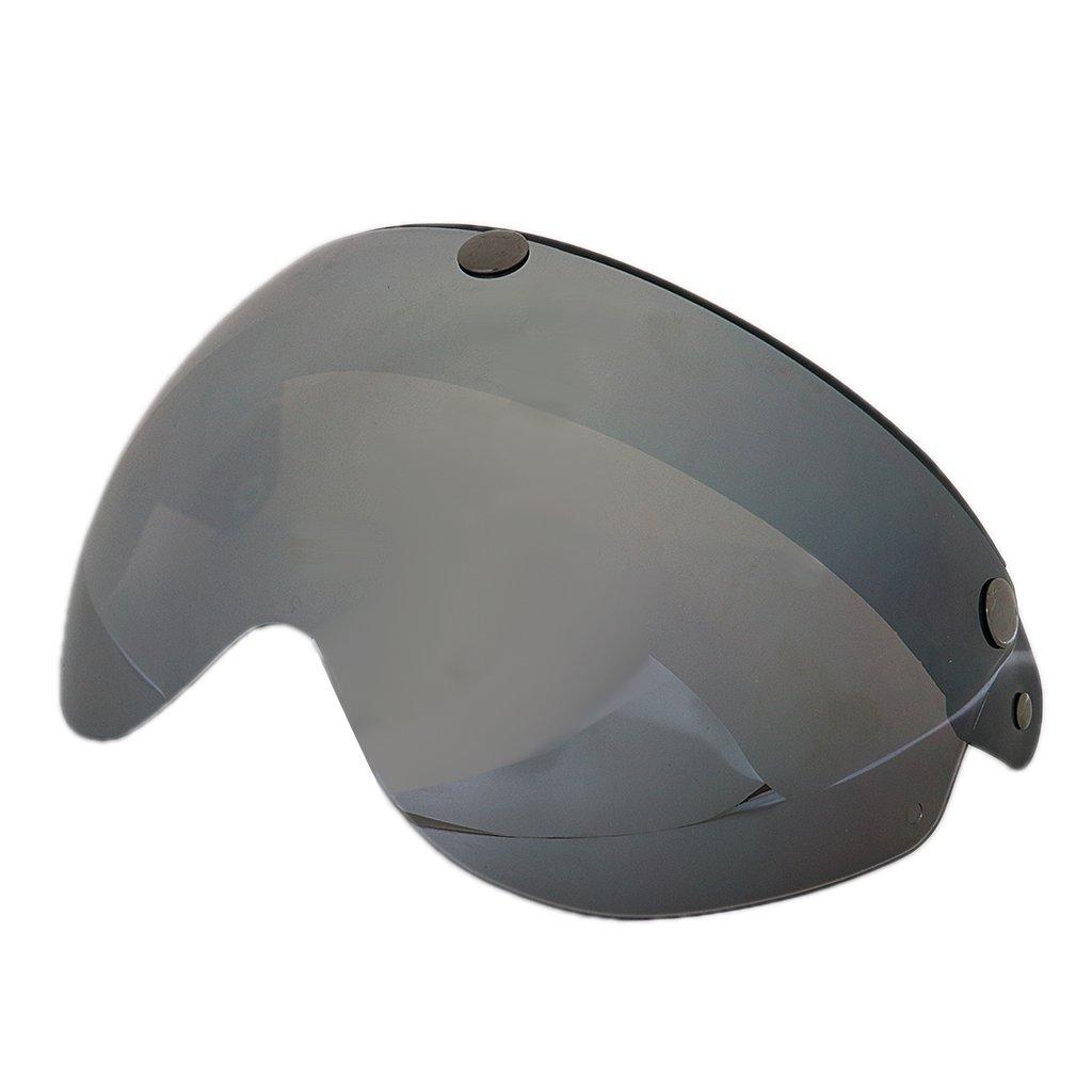 Jili Online Adjustable Motorcycle Helmets 3 Snap Flip Up Visor Face Shield Lens 3/4 Open Face - Clear