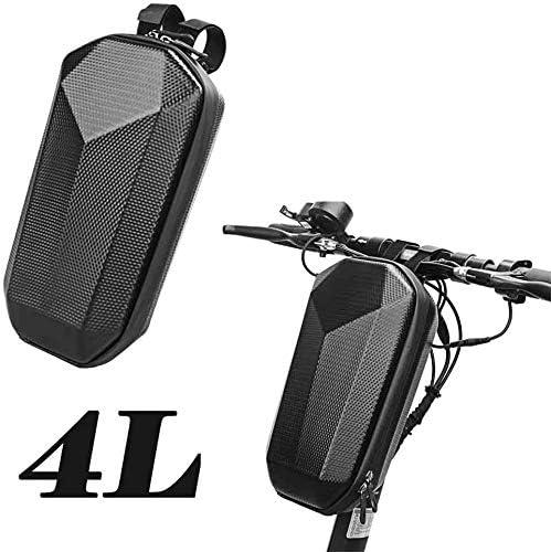 Krtopo Bolsa de Almacenamiento de Scooter Bolsa de Manillar Frontal Adecuado para Scooter El/éctrico Bicicleta Plegable y Bicicleta 4L Impermeable