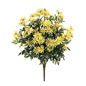 "22"" Artificial Daisy Flower Bushes (a total of 210 flower heads) in Yellow (Pack of 3) 48"