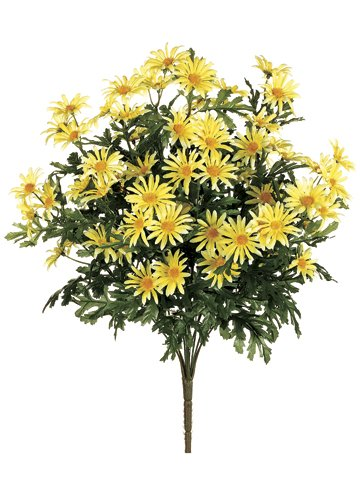 22-Artificial-Daisy-Flower-Bushes-a-total-of-210-flower-heads-in-Yellow-Pack-of-3
