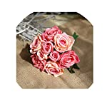 Wedding-Bouquet-Roses-Holder-Wedding-Flowers-Bridal-Bouquets-Artificial-Bridesmaids-Accessories-Wedding-BouquetRose-Red