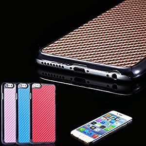 Mobile Phone Bags & Cases For iphone 6 4.7inch Top Quality Hard Back Cover For iphone 6 Carbon Fiber + Electroplating PC Shell --- Color:brown