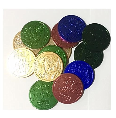 Set of 10 Assorted Metallic Multi Colored Slammers for Pog or Milk Cap Game
