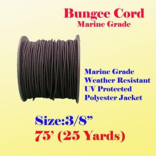"3//8/"" X 75 Ft 25 Yard Premium Marine Grade Bungee Shock Stretch Cord Tarp Tie Uv"