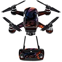 Skin for DJI Spark Mini Drone Combo - Fire Dragon| MightySkins Protective, Durable, and Unique Vinyl Decal wrap cover | Easy To Apply, Remove, and Change Styles | Made in the USA