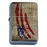Vintage American Flag Flip Top Oil Lighter D2 Patriotic Freedom American Heroes Veterans