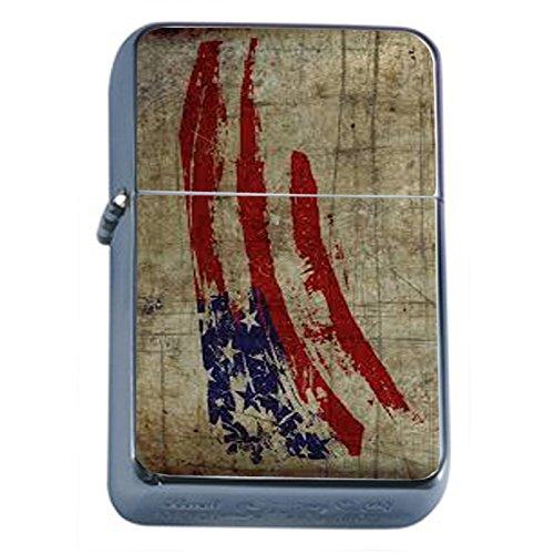 Vintage American Flag Flip Top Oil Lighter D2 Patriotic Freedom American Heroes Veterans by Perfection In Style