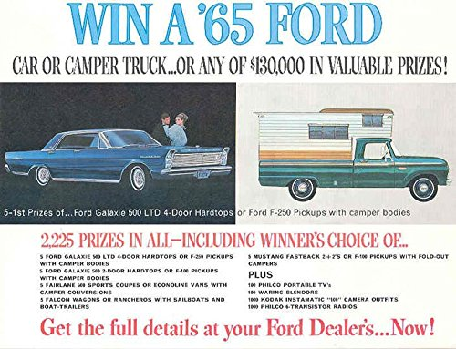 Amazon com: 1965 Ford Car & Truck Prize Giveaway Brochure