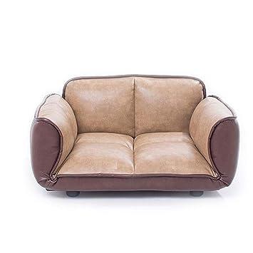 Hjd-cama para perros Pet Sofa Dog Kennel Pad Muebles extraíbles y Lavables Protección de Perro cálido Perro Lumbar (Color : Brown, tamaño : 72cm): ...
