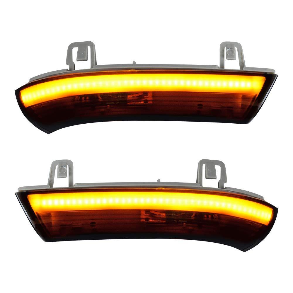 beler Pair LED Side Mirror Blinker Turn Signal Light Indicator Lamps Clear Lens
